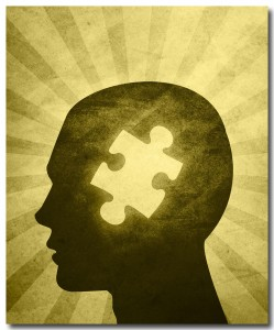 A recurring theme depicts autism as a missing jigsaw puzzle piece.